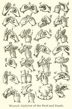 Manual Alphabet of the Deaf and Dumb