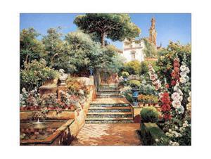Flower Garden by Manuel Garcia Y Rodriguez