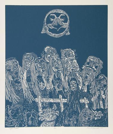 Night Festival (Blue) by Manuel Izqueirdo