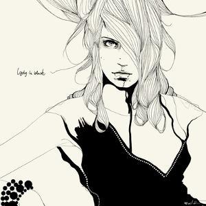 Lady in Black by Manuel Rebollo