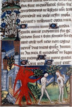 Manuscript of the Hours of Rohan-Montauban: Adam and Eve Driven Out of Paradise