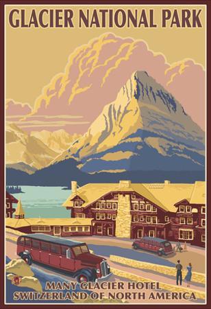 Many Glacier Hotel, Glacier National Park, Montana