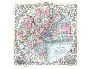 Map 33 Miles Around New York