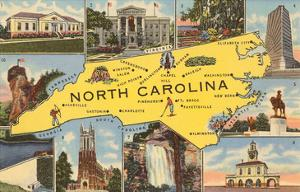 Map and Scenes of North Carolina