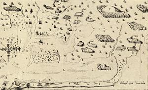 Map from Voyages of Samuel De Champlain