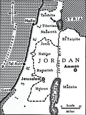 Map Indicating Israeli Attacks on Syria