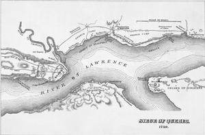 Map of 1759 Siege of Quebec