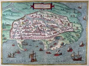 Map of Alexandria, Egypt, 17th Century
