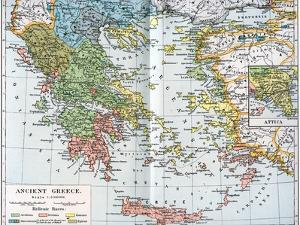Map of Ancient Greece, 1902