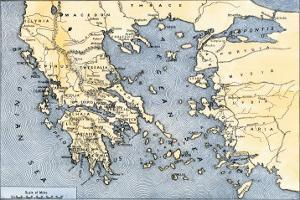 Map of Ancient Greece and its Colonies
