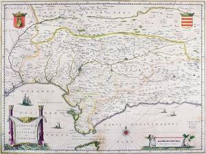 Map of Andalusia, Spain