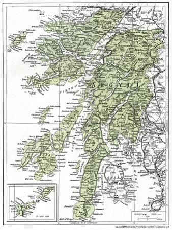 Map of Argyllshire, 1924-1926
