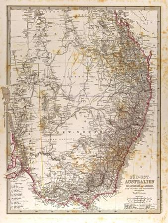 Map of Australia, 1872
