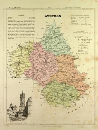 Map of Aveyron France