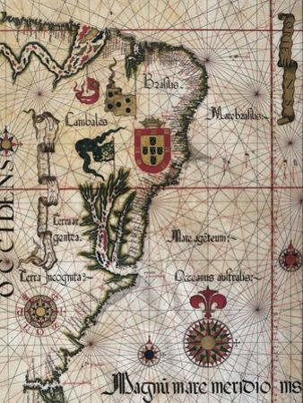 Map of Brazil, 1561