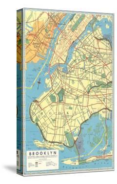 Map of Brooklyn, New York