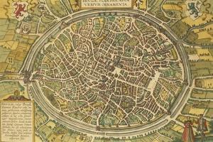 Map of Bruges from Civitates Orbis Terrarum