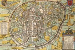 Map of Bruxelles from Civitates Orbis Terrarum