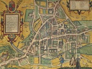 Map of Cambridge from Civitates Orbis Terrarum