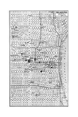 Philadelphia pa posters for sale at allposters map of central philadelphia pennsylvania usa c1930s malvernweather Choice Image