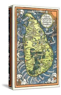 Map of Ceylon Tea Industry Sites