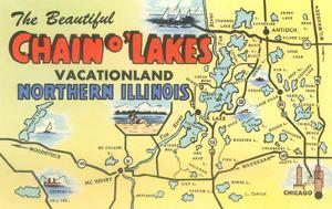 Map of Chain O'Lakes, Illinois