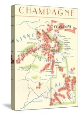 Map of Champagne Wine Country