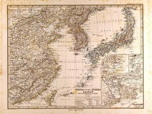 Map of China, Korea and Japan, 1872