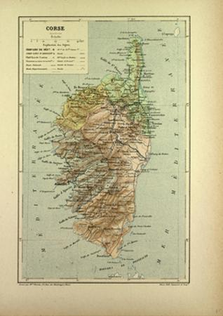 Map of Corse France