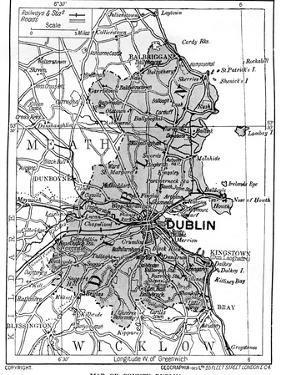 Map of County Dublin, Ireland, 1924-1926