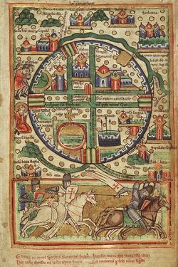 Map of Crusader Jerusalem, 1170