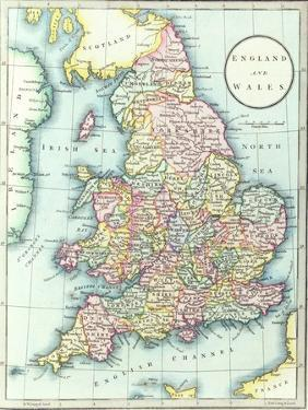 Map of England and Wales, 1852, from R.H. Laurie's Atlas