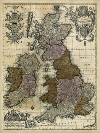 Map of England, Scotland and Ireland