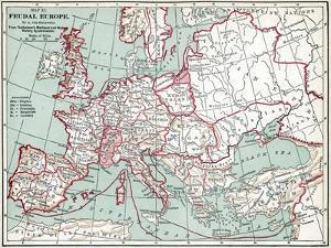 Map Of Europe, 12Th Century