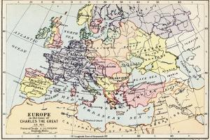 Map of Europe in the Time of Charles the Great