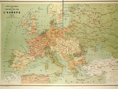 Map of European Railway Lines
