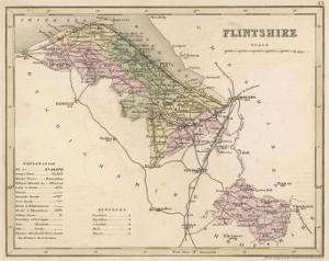 Map of Flintshire, Wales