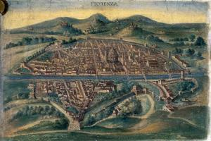 Map of Florence, 15th Century