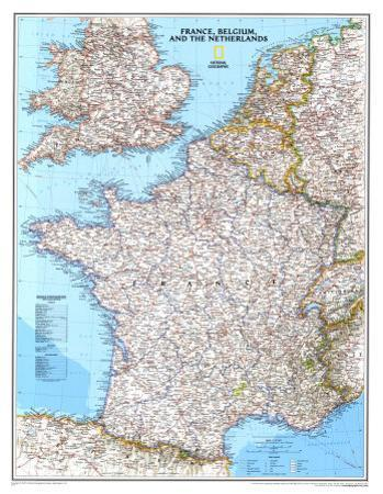 Map of France, Belgium, And The Netherlands