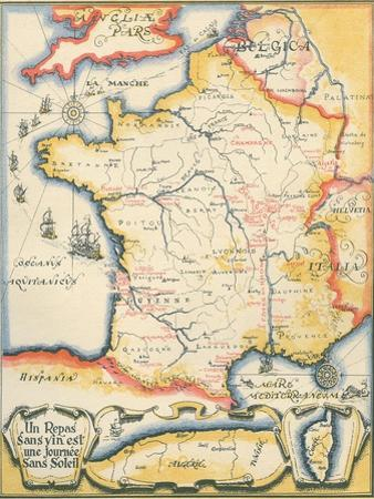 Map of French Wine Country