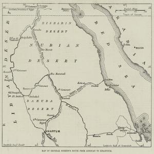 Map of General Gordon's Route from Assouan to Khartoum