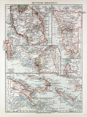 Map of German Colonies German New Guinea Cameroon 1899
