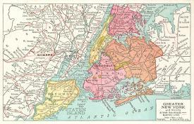 Affordable Maps of New York Posters for sale at AllPosters.com