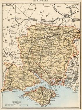 Map of Hampshire, England, 1870s