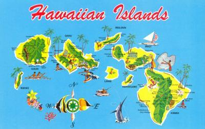 Affordable Maps Of Hawaii Posters For Sale At Allposters Com