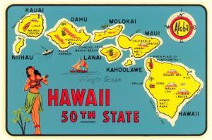 Map of Hawaiian Islands