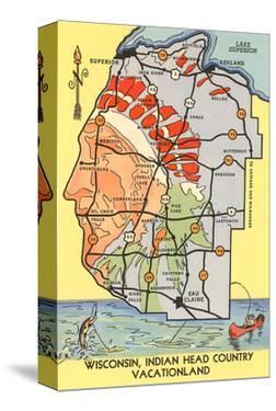 Map of Indian Head Country, Wisconsin