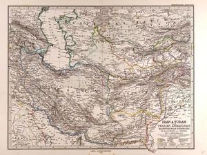 Map of Iran, 1876