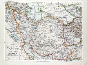 Map of Iran 1899
