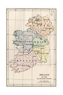 Map of Ireland before the English Invasion, circa 1580
